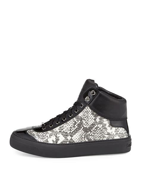 jimmy choo mens sneakers jimmy choo argyle mens snakeembossed hightop sneaker in