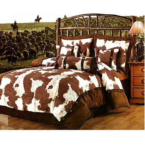 home design bedding decorating in cowhide that creative feeling
