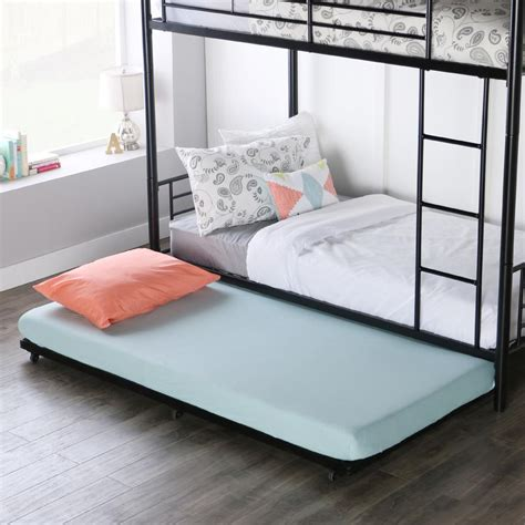 Metal Bed Frame With Trundle by Furinno Angeland Metal Bed Frame Fb001t The Home Depot