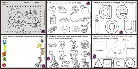 imagenes educativas para preescolar fichas examen infantil y preescolar dificultad media baja