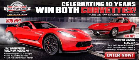 Dream Sweepstakes - 2017 corvette dream giveaway brought to you by lingenfelter performance engineering