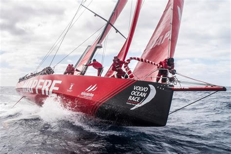 volvo ocean race sailing  leg  report