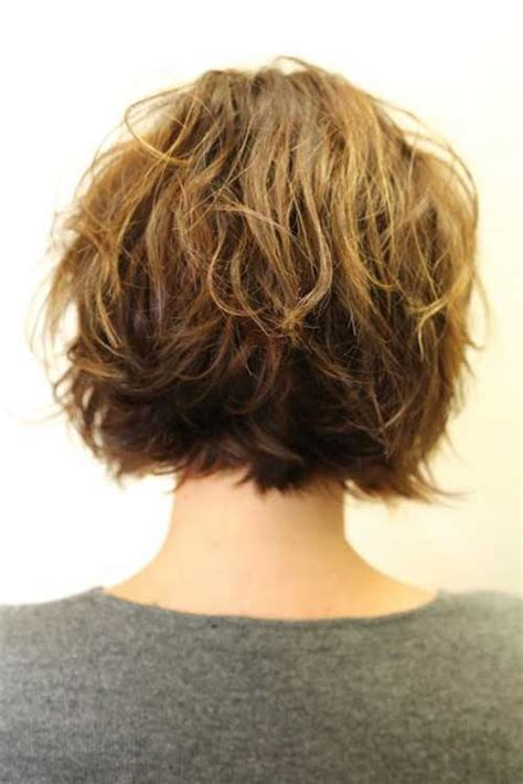 vies of side and back of wavy bob hairstyles 30 short haircuts for wavy hair short hairstyles