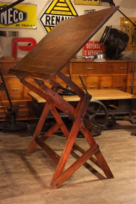 Table A Dessin Darnay by Renaud Jaylac Brocantes Antiquites Industrielles Meuble De