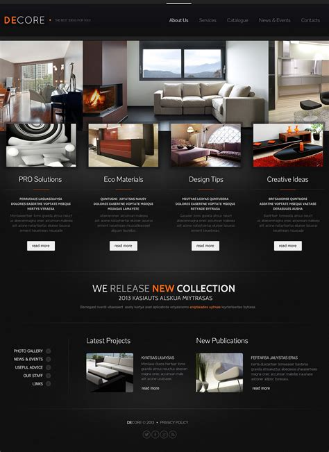 templates for furniture website furniture catalogue website template web design
