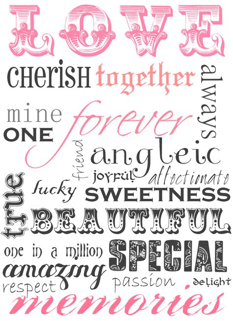 templates for word art sweetly scrapped free printable love word art