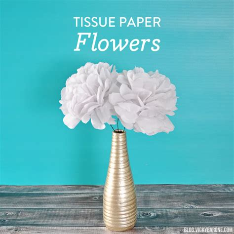 Things You Can Make With Tissue Paper - diy tissue paper flowers barone