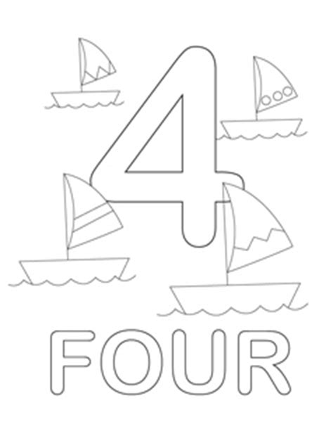 Number 4 Coloring Pages Preschool by Number Coloring Pages Mr Printables