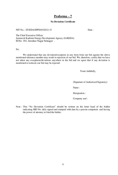 Authorization Letter Encash Check Bid Document For Solar Plant At J K