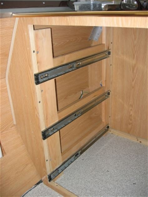 Installing Cabinet Drawers by Aliner Drawer Conversion Tin Tent Tour Bill S