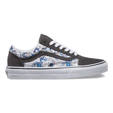 Vans Skool Flower blurred floral skool shop shoes at vans