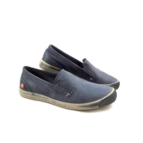loafer style softinos ita slip on loafer style sneakers in navy
