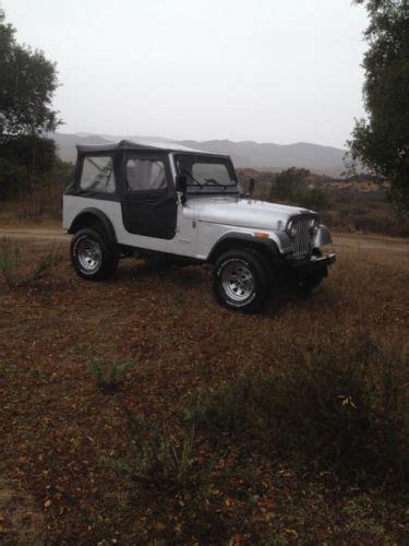 1982 jeep jamboree find used 1982 cj 7 jeep jamboree wrangler 4 2 l inline