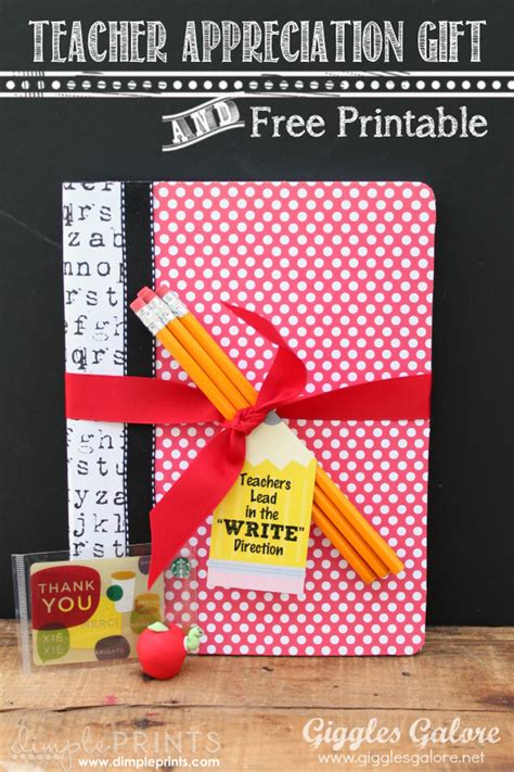 Classroom Gift Ideas - 12 appreciation gift ideas with free prints