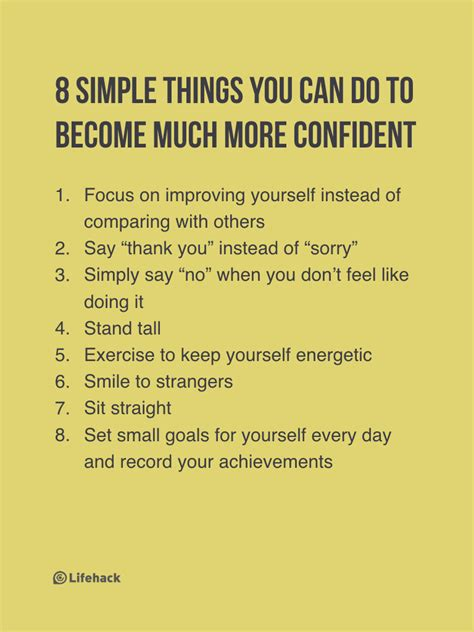 start doing these 8 things and you ll be much more confident