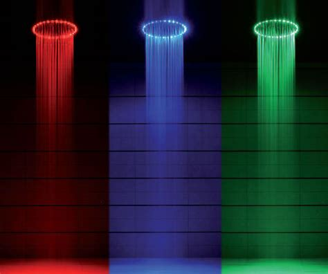 Bath Shower Design rio led shower head lights up your bath like a disco