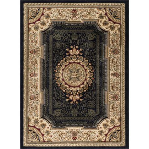 tayse rugs sensation green 6 ft 7 in x 9 ft 6 in tayse rugs sensation black 6 ft 7 in x 9 ft 6 in