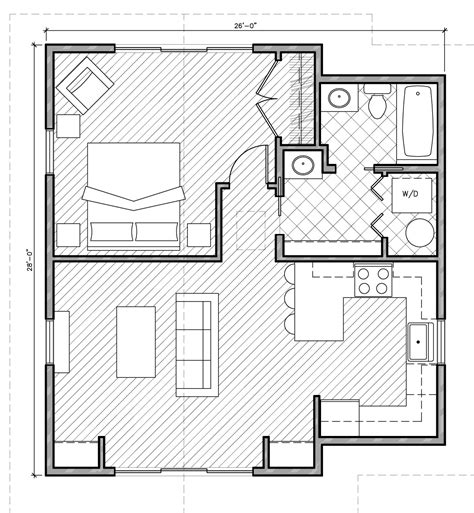 Small One Bedroom House Plans by Design Banter Home Plan Collection
