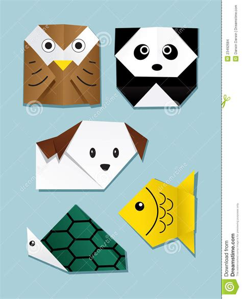 Animals Origami - origami animal stock vector image of symbol paper