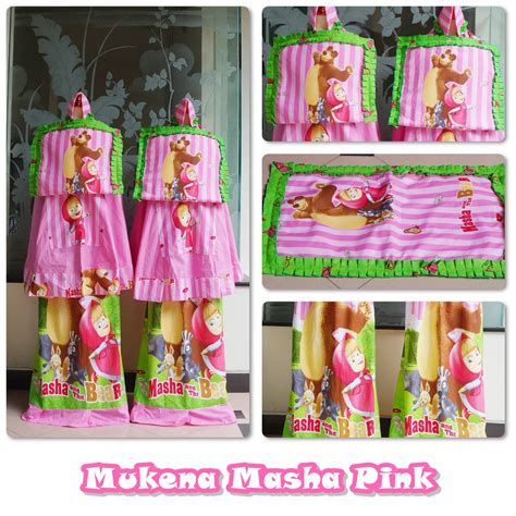 Mukenah Rukuh Mukena Anak Frozen Magical Pink Size Xs jual mukena anak marsha the pink size xxxl motif cantik harga murah