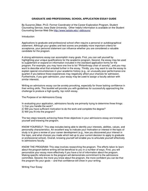 Grad School Personal Statement Exles Mba by Grad School Personal Statement Exles World Of Exles