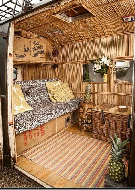 volkswagen van hippie interior rv rving cer cool motorhomerothfink tiki rustbus