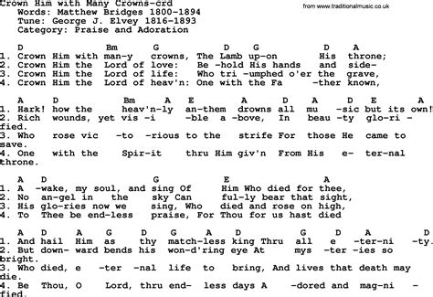 Crown Him With Many Crowns Guitar Chords