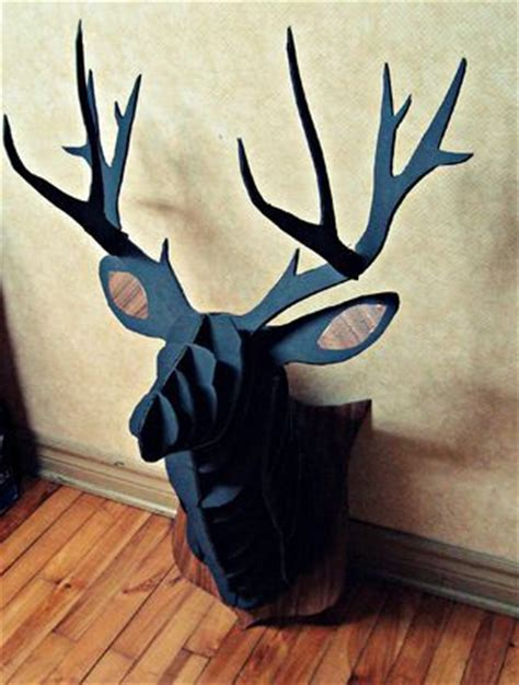 cardboard reindeer head instructable diy pinterest