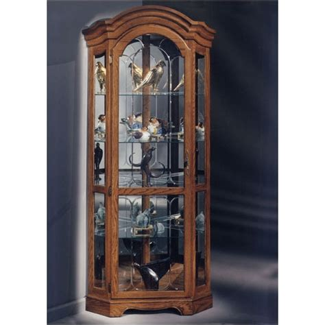 glass corner curio cabinet wayfair