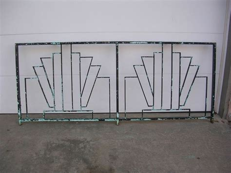 art deco balcony art deco wrought iron balcony rail railing fence headboard