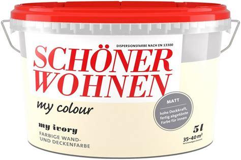 schöner wohnen innenfarbe sch 246 ner wohnen farbe innenfarbe 187 my colour 171 my ivory