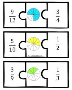 fraction puzzle worksheets printable math puzzles 5th