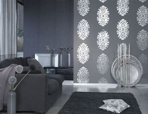 Silver Wallpaper For Living Room by Silver Luxury Livingroom Decor Picsdecor