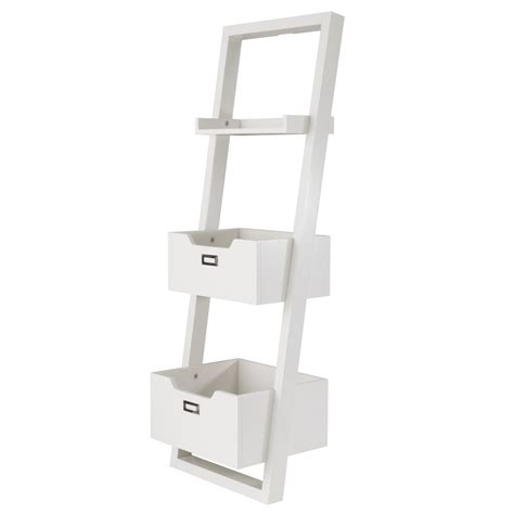 Little Sloane Leaning Desk White The Land Of Nod Leaning Bookcase White