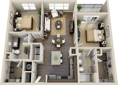 2 3 bedroom apartments 1000 ideas about two bedroom apartments on pinterest