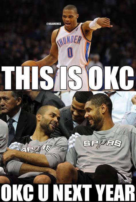 Tim Duncan Meme - tim duncan tony parker to russell westbrook the http