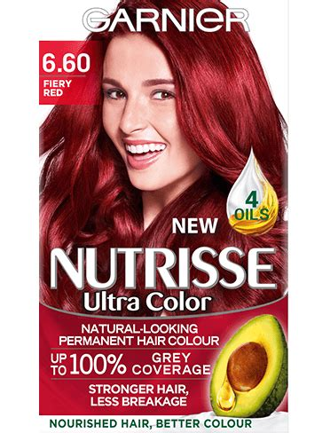 garnier nutrisse hair color chart 6 60 fiery hair colour nutrisse garnier