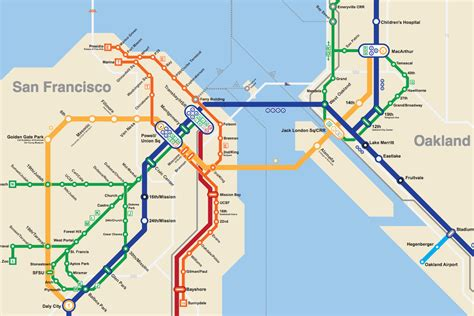 san francisco map with bart this 2050 bay area bart metro map is everything curbed sf