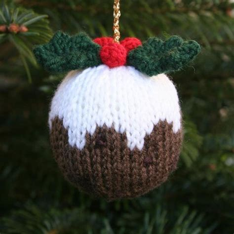 free knitting pattern for christmas pudding ornament