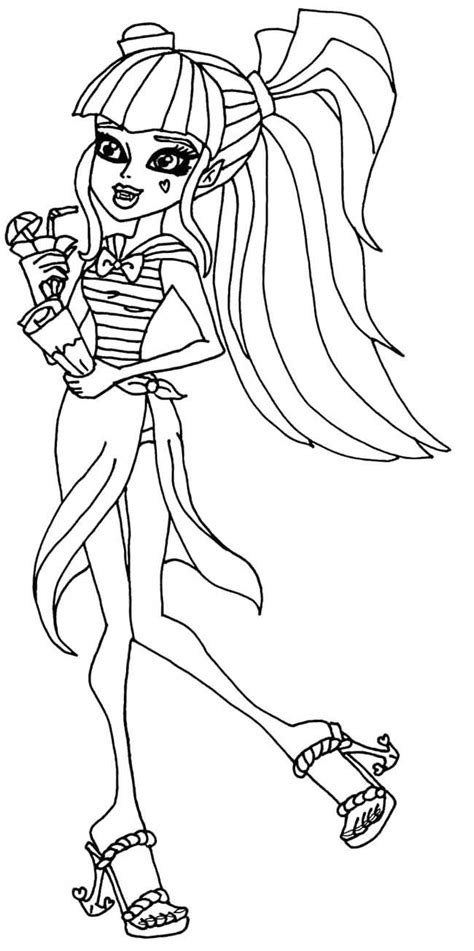 monster high skull coloring pages draculaura skull shores coloring page monster high