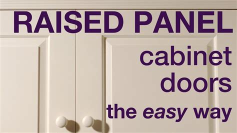 How To Make Raised Panel Cabinet Doors In Mdf Youtube How To Make Raised Panel Cabinet Doors