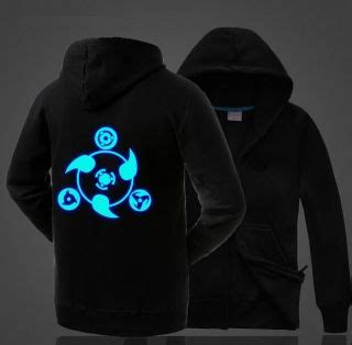 sharingan glow in the hoodie for fleece anime hoodie for