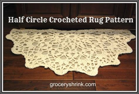 half circle crochet rug pattern crochet