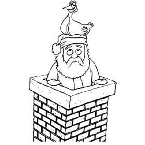 santa duck coloring page santa with duck on his head coloring page