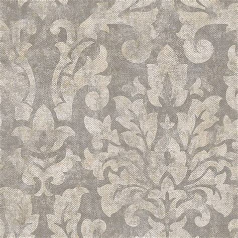 wallpaper grey beige wallpaper taupe gray and beige faux linen damask ebay