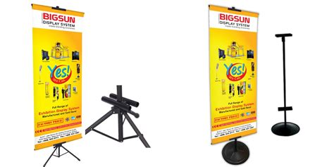 Tripod Display 2 Sisi Tripod Banner Tripod Poster Berdiri t banner stand banner display and exhibition system