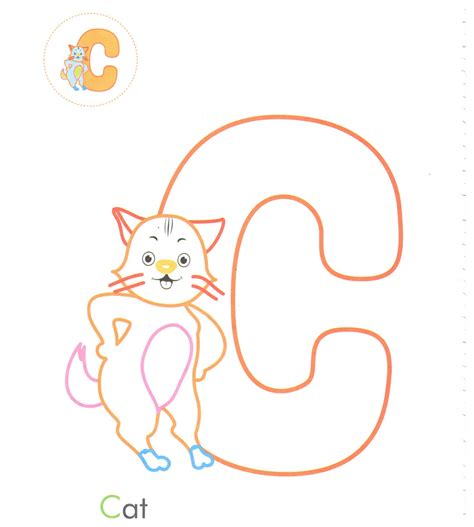 letter c caterpillar coloring page alphabet letter c cat coloring page for preschool