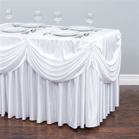 tablecloth draping 4 ft drape chiffon all in 1 tablecloth pleated skirt
