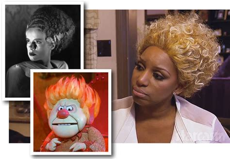 back of phaedra s hair nene leakes blonde wig photos heat miser bride of frankenstein