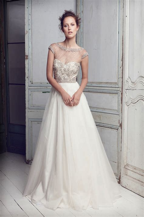 wedding dress with beaded bodice collette dinnigan bridal my dress of the week